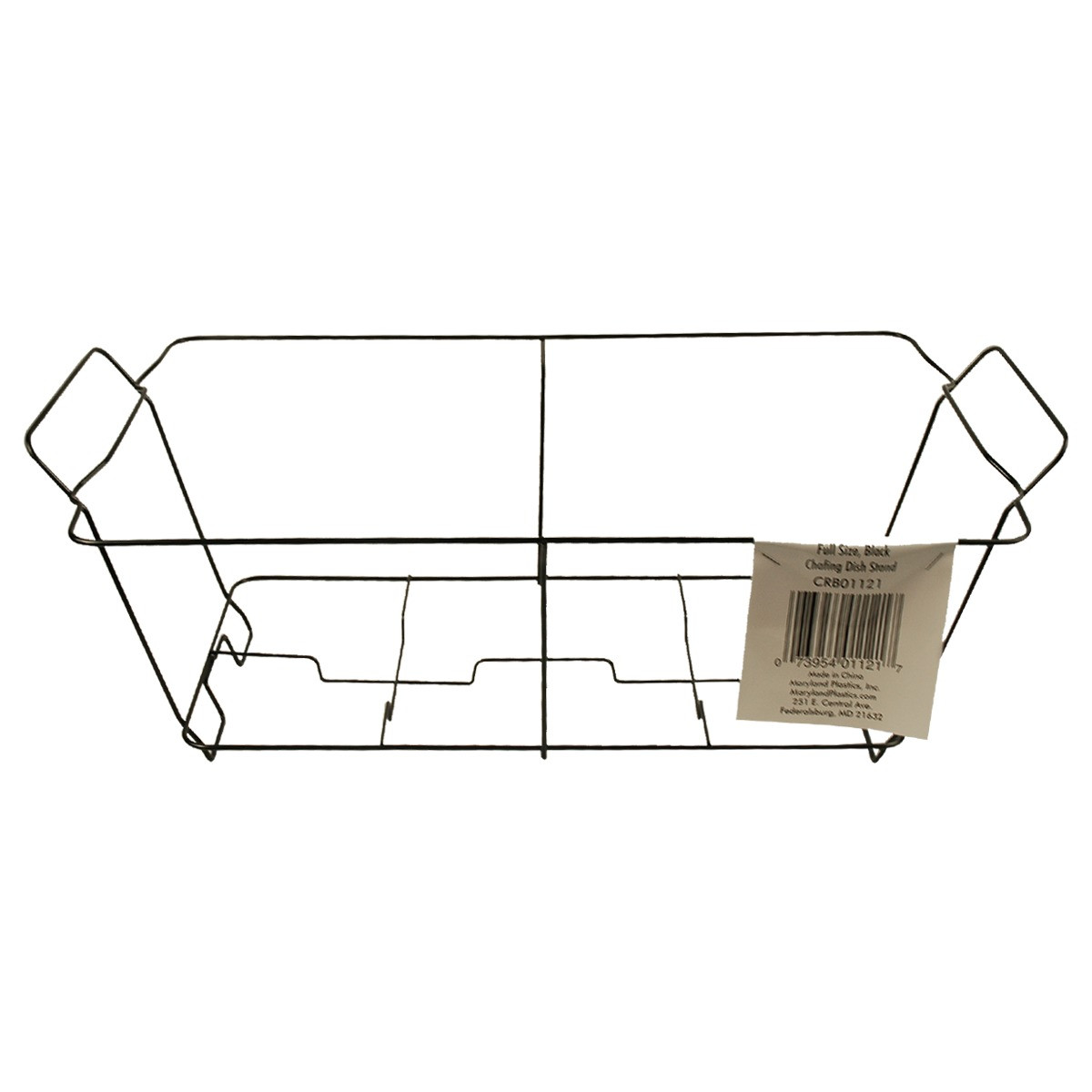 maryland plastics black wire chafing dish rack stand only