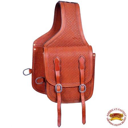 Horse Western Saddle Bag Leather Cowboy Trail Shoulder Bag Black Hilason ()