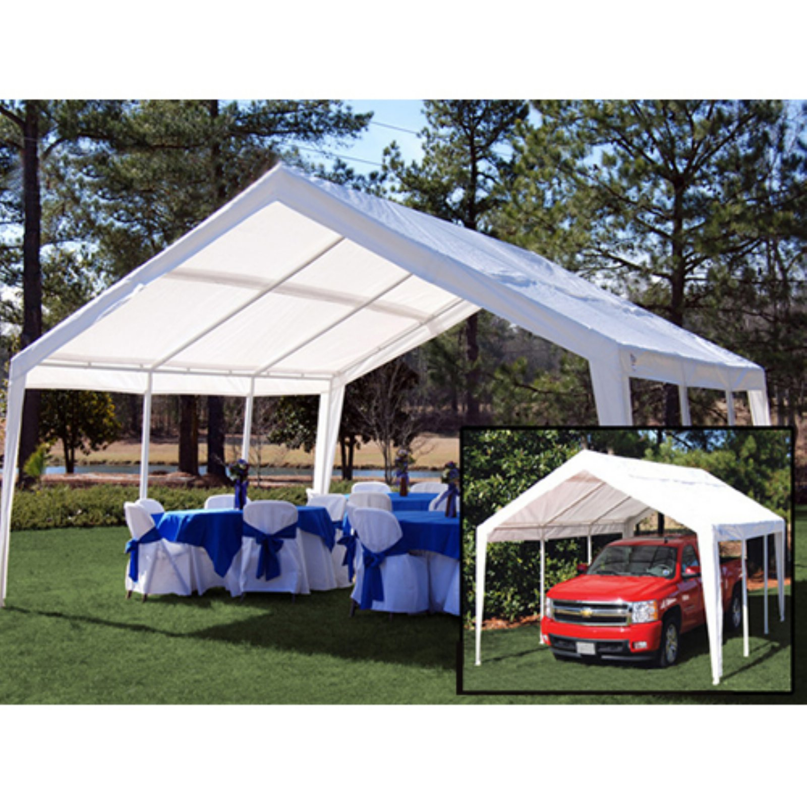 King Canopy 12 x 20 ft. Fitted Replacement Carport Cover for EX1220 Canopies