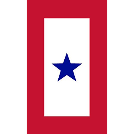 3x5 inch 1 Blue Star Military Service Flag Sticker (army son daughter mom)