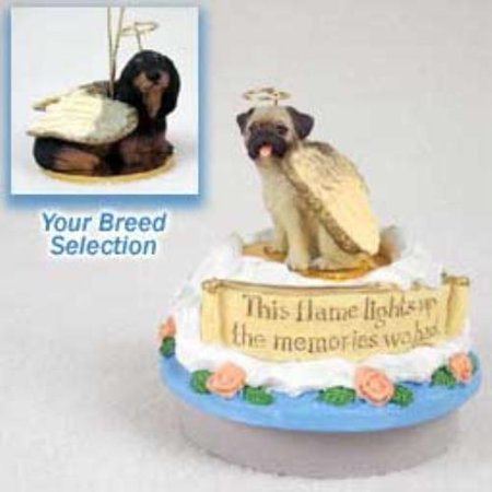 DTTA60B Dachshund Longhaired Black Candle Topper Tiny One Pet Angel Ornament