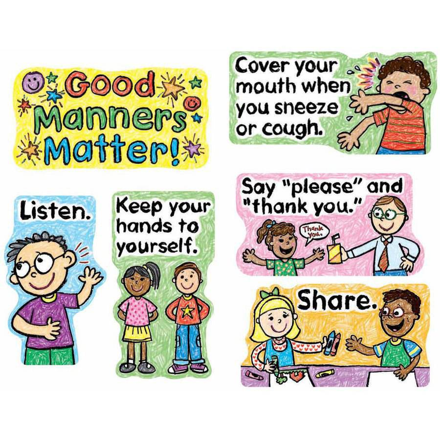 Carson-Dellosa Good Manners Design Mini Bulletin Board Set