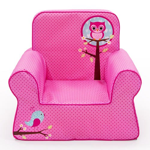 Marshmallow Comfy Chair Pink Owl