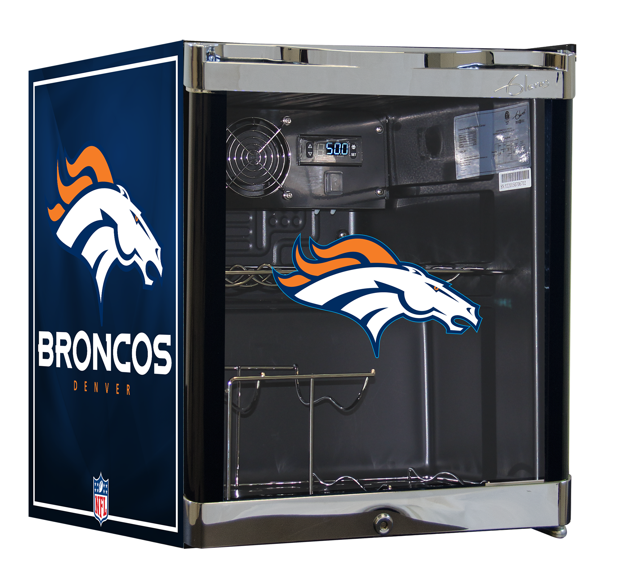 NFL Wine Cooler 1.8 cu ft - Denver Broncos