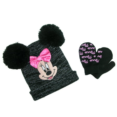 dc13c1592dea3 Disney - Disney Infant   Toddler s Minnie Mouse Hat and Mitten Winter Set -  Walmart.com