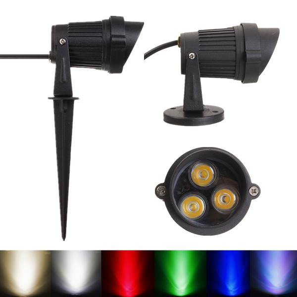6W LED Flood Spot Light Waterproof With Cap For Landscape Garden IP65 DC 12-24V with Base