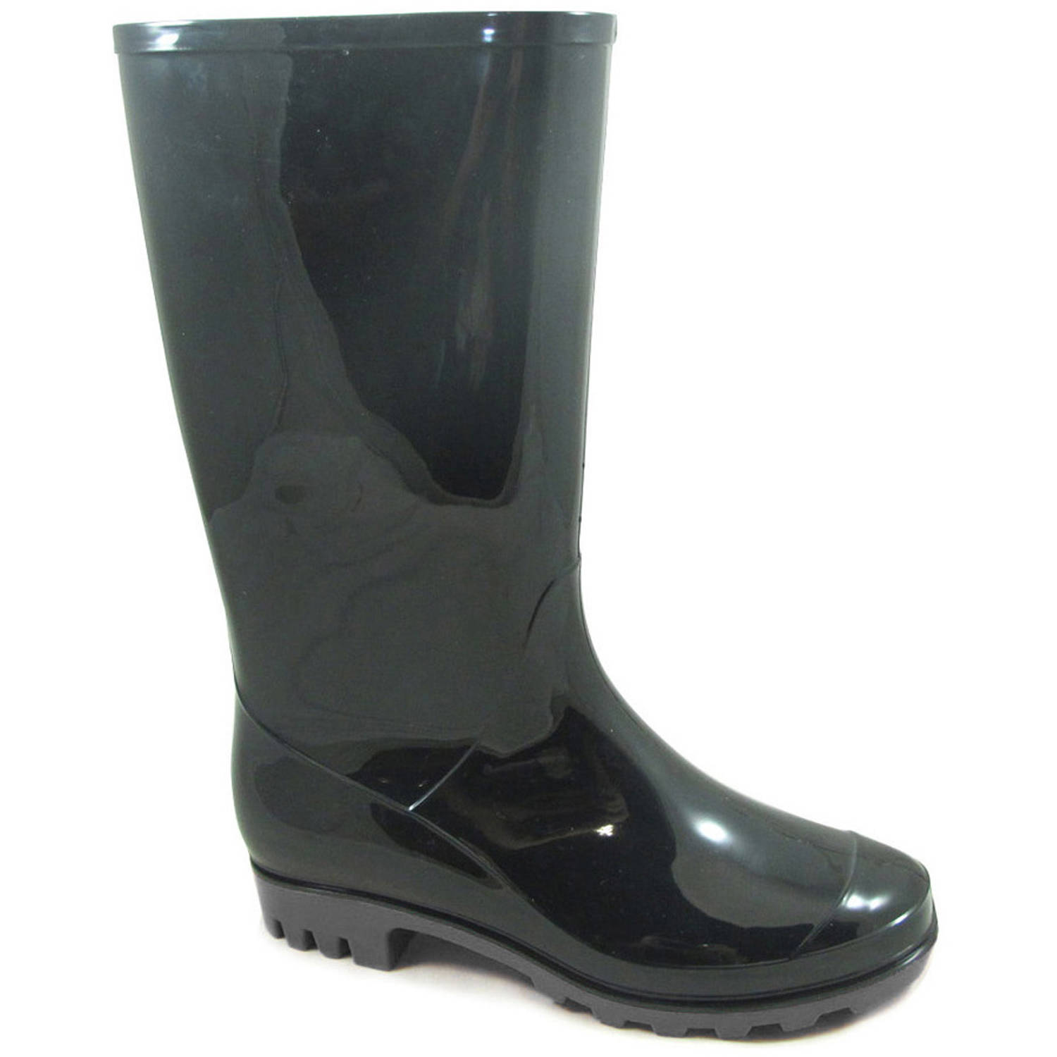Womens Unbranded Solid Rainboot - Walmart.com