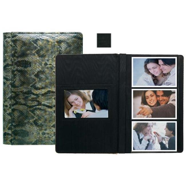 Raika VI 127 BLK 4inch x 6inch Three High Photo Album - Black