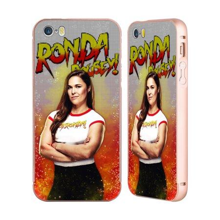 OFFICIAL WWE RONDA ROUSEY GOLD ALUMINIUM BUMPER SLIDER CASE FOR IPHONE PHONES