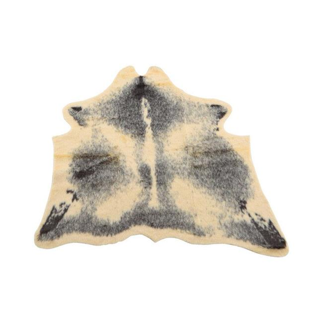Decoris 9458795 35.4 x 39.4 in. Faux Fur Cowskin Rug  Gray - Acrylic - pack of 2
