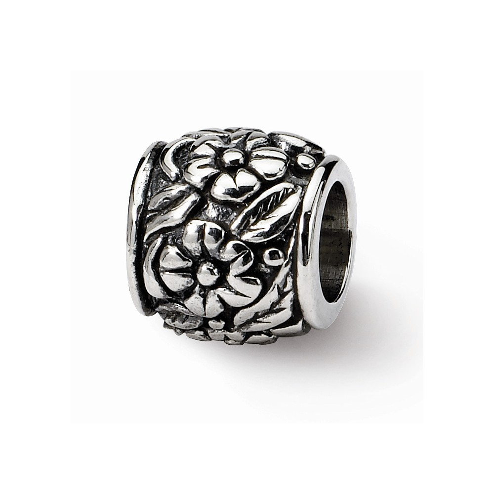 Sterling Silver Reflections Lovely Decorative Floral Bead