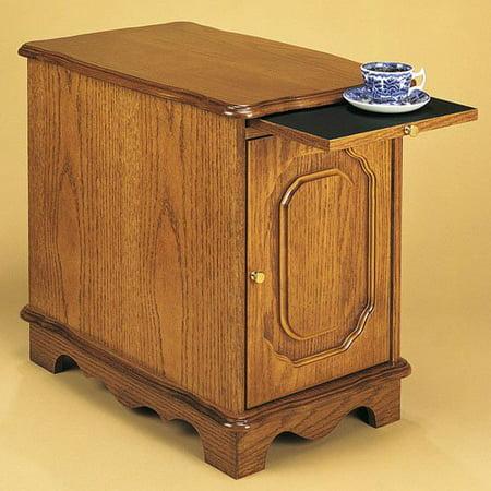 Powell Oak Magazine Cabinet Table