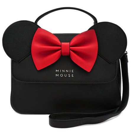 x Disney Minnie Mouse Crossbody Bag with Ears and Bow (Disney Tinkerbell Purse)
