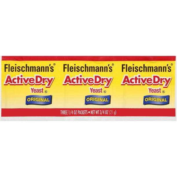 Fleischmann S Activedry Original Yeast 3 Ct Package Walmart Com Walmart Com