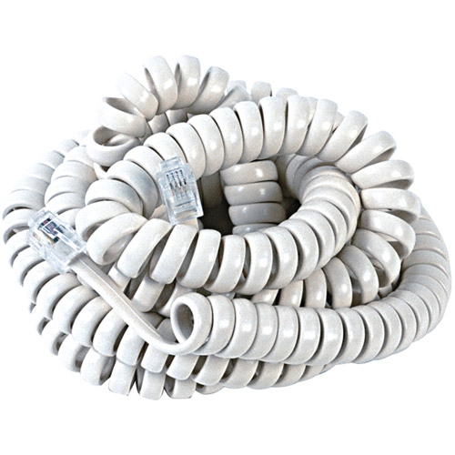 RCA Handset Coil Cord, 12', White