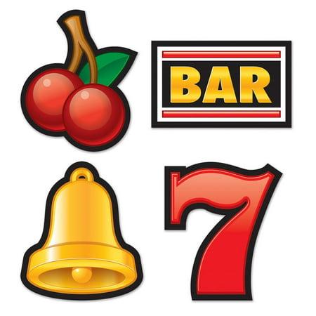 Club Pack of 48 Las Vegas Casino Night Slot Machine Cutout Party Decorations 16