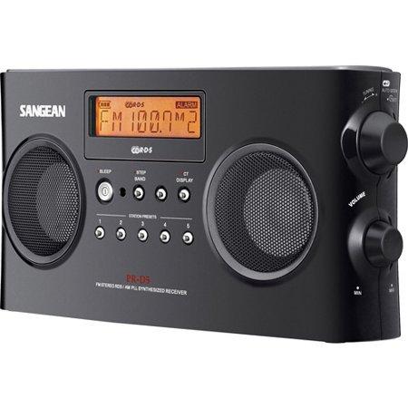 AM FM-RDS Digital Portable Radio, Black by Sangean