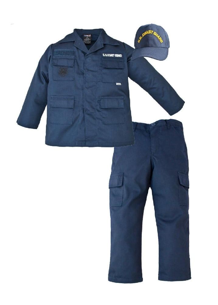 Kids XS (2-4) US Coast Guard 3 Pc Blue USCG Replica Work Uniform