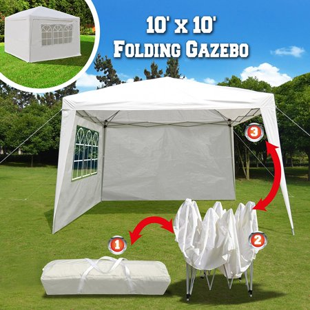 EZ POP UP Wedding Party Tent 10?x10? Folding Gazebo Beach Canopy W/