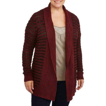 Women's Plus-Size Thick Stitch Essential Cardigan