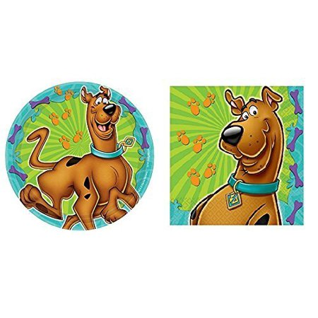 Scooby-Doo Where Are You! Dessert Plates and Napkins By ScoobyDoo Party Supplies](Scooby Doo Cupcake Liners)