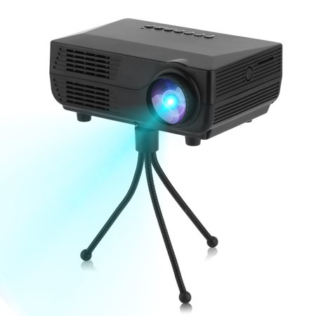 1080p Portable Compact Mini HD LED Multimedia Home Theatre Movie Projector on Sale