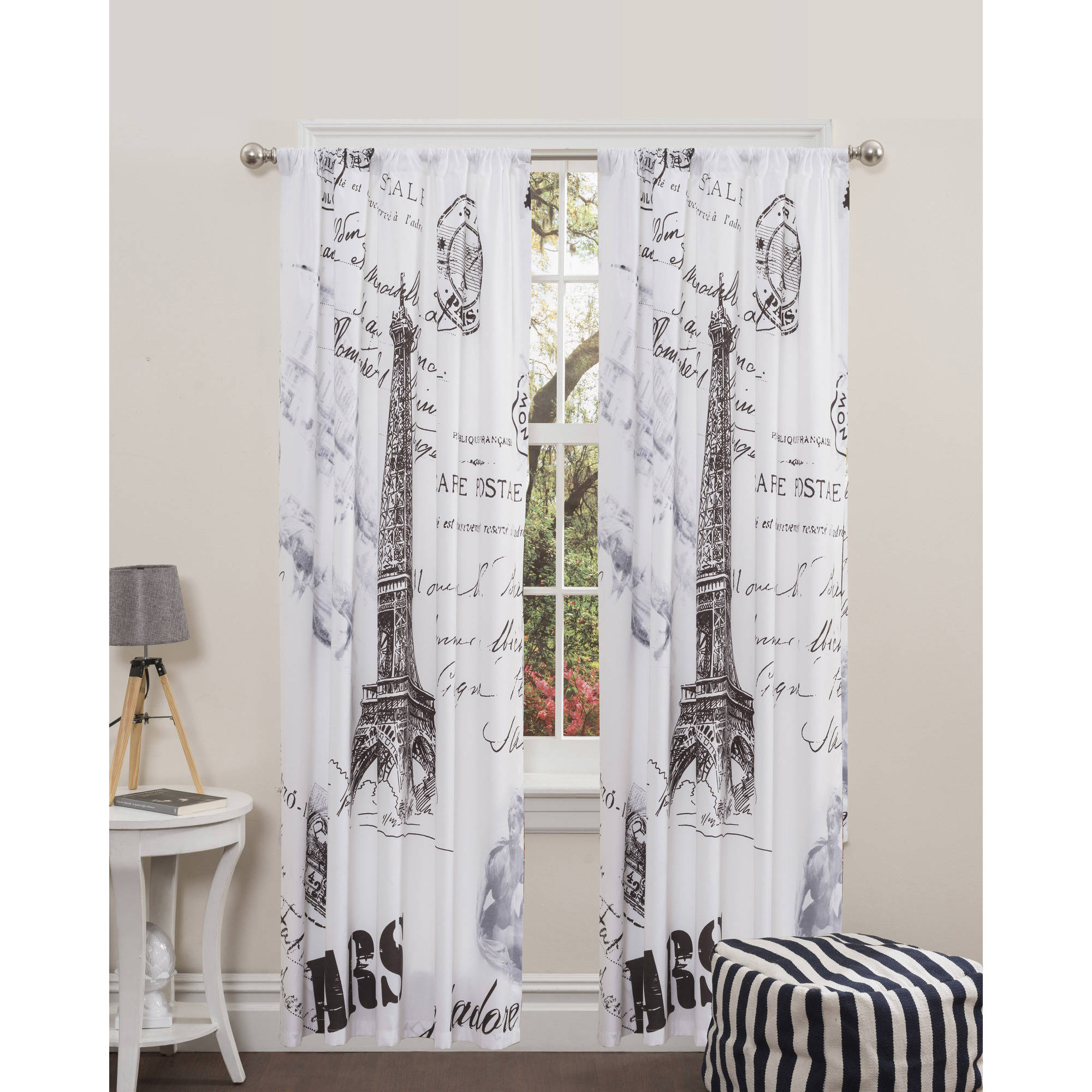 New Paris Curtain Panel Home Decor Curtains Window Treatments Room Bedroom