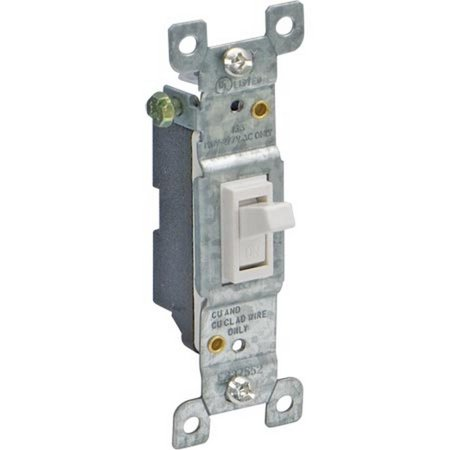 Ez-Flo 62040 Single Pole 15A Toggle Switch White