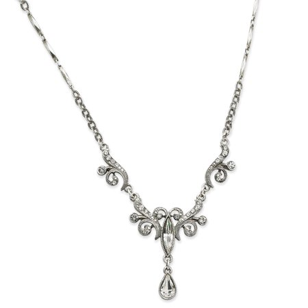 Fancy Glass Necklaces (Bridal Crystal Fancy Drop Necklace )