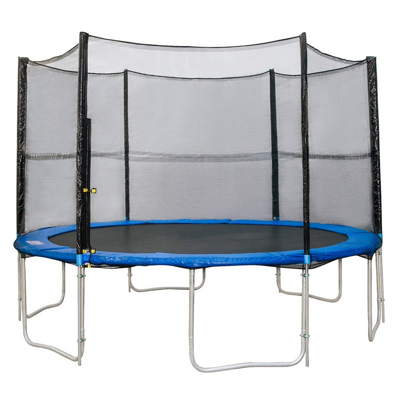 12ft 6 Poles Trampoline Enclosure Outdoor Replacement Safety Net SMT