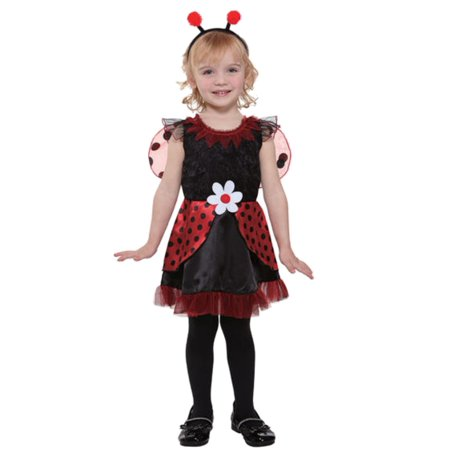 Totally Ghoul Toddler Girls Lil Ladybug Fairy Costume with Dress Headpiece