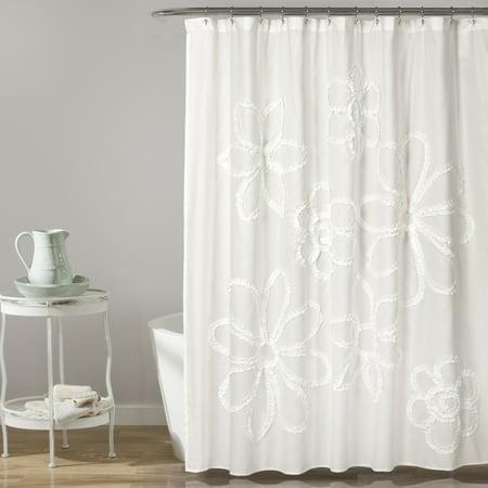 "Ruffle Flower 72""x72"" Shower Curtain"