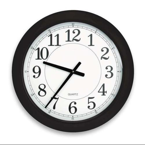 6NN67 Analog Clock, 24 In, Black