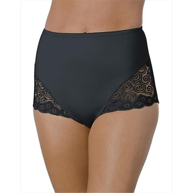 X054 Bali Moderate Control Lace Leg Brief 2-Pack Extra Large 2 Black - image 1 of 1