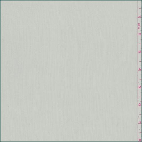 Light Grey Crinkled Chiffon, Fabric By the Yard