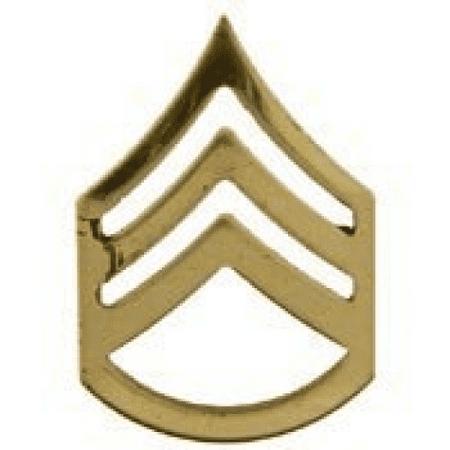 Metal Lapel Pin - US Army Pin & Emblem - US Army Rank Staff Sergeant