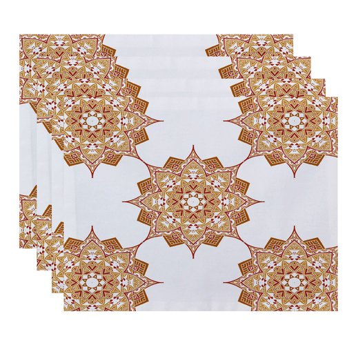 Bungalow Rose Oliver Rhapsody Geometric Print Placemat (Set of 4)