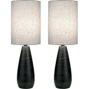 Lite Source LS-2998/2PK Brushed Dark Bronze Quatro Ii 1 Light Table Lamp