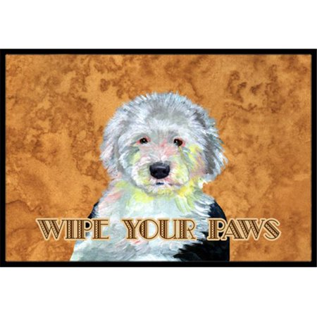 Carolines Treasures LH9457MAT 18 X 27 In. Old English Sheepdog Wipe Your Paws Indoor Or Outdoor Mat - image 1 de 1