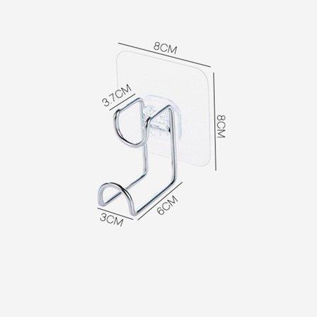 Brand New Free Powerful Suction Basin Storage Hook Wall Hanger Toilet Basin Rack - image 4 de 5
