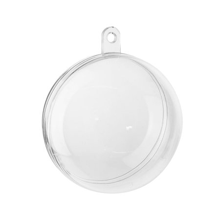 Fillable Plastic Clear Ball Ornament, 2-Inch, 12-Count - Clear Plastic Balls