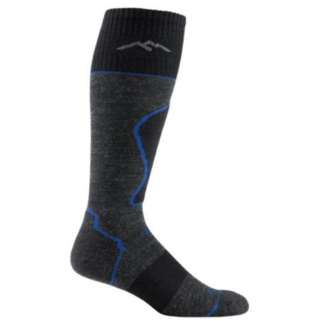 - Darn Tough Vermont Men's Merino Wool Over The Calf Padded Cushion Socks, Black, Small