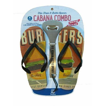Wembley Men Cabana Combo Flip Flops & Bottle Opener X-Large