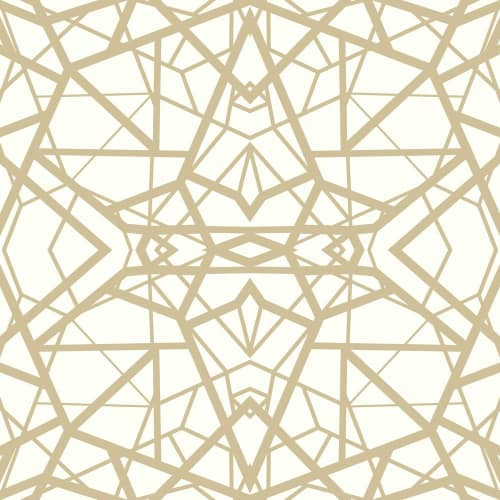 RoomMates Shatter Geometric White/Gold Peel & Stick Wallpaper
