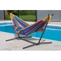 Deals on Vivere Double Hammock with Stand Combo