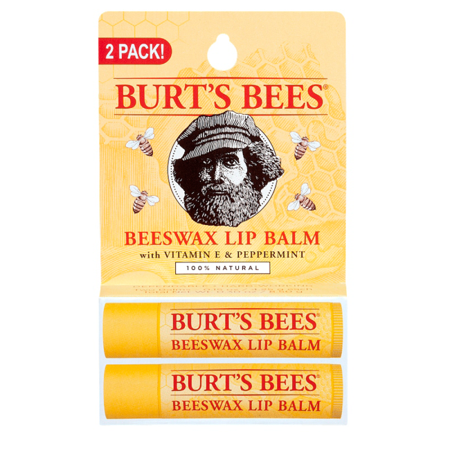 Burt's Bees Beeswax Lip Balm with Vitamin E & Peppermint 2 Pack 2 (Best Lip Balm To Make Lips Pink)