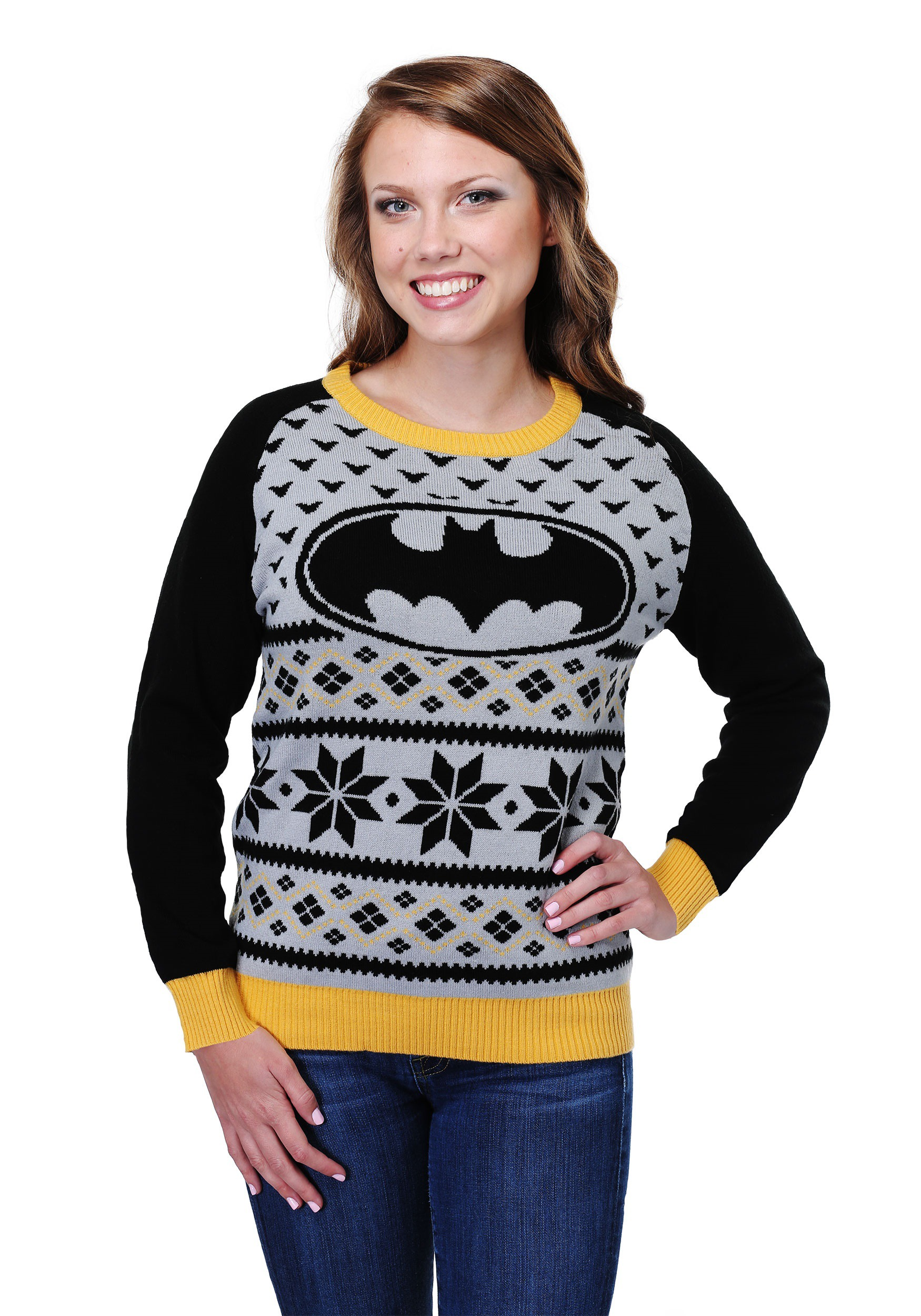 Batman Womens Ugly Christmas Sweater