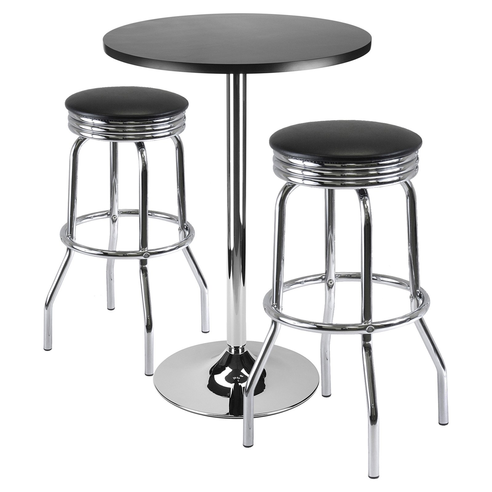 Summit 3 Pc Bar Table Set 24 Quot Table And 2 Stools