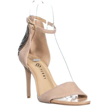 Womens Katy Perry The Alexann Heel Covered Ankle Strap Sandals, Blush/Nude, 7 US / 37 EU