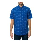 Emerica. Mens The Paisley Button Up Shirt, blue, Small